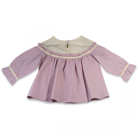 Camasa eleganta fete ivoire si roz1