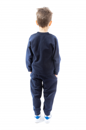 Cardigan albastru inchis cu fermoar2