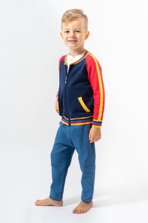 Cardigan combinat cu fermoar [1]
