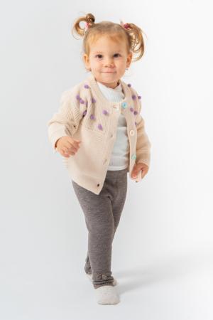 Cardigan din tricot cu nasturi colorati [0]