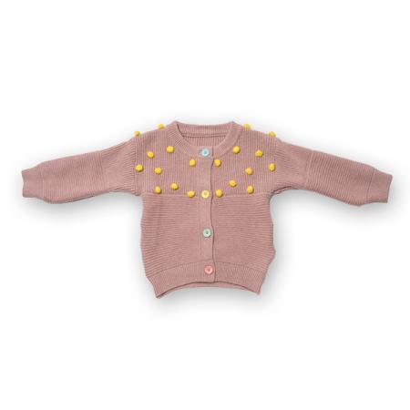 Cardigan din tricot cu nasturi colorati0