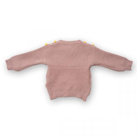 Cardigan din tricot cu nasturi colorati1