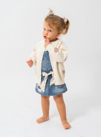 Cardigan din tricot cu nasturi perlati0