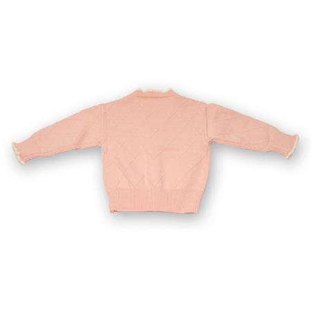 Cardigan din tricot cu volanase si broderie [1]