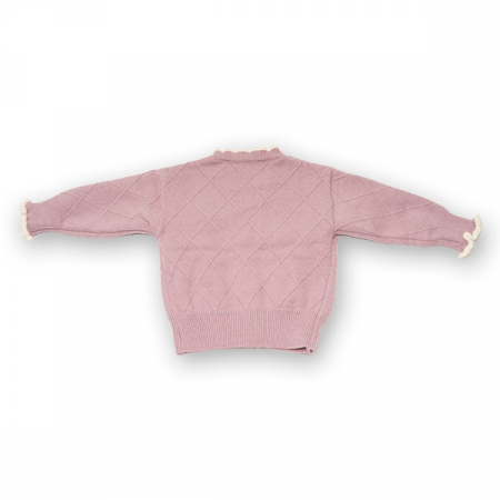 Cardigan din tricot cu volanase si broderie1
