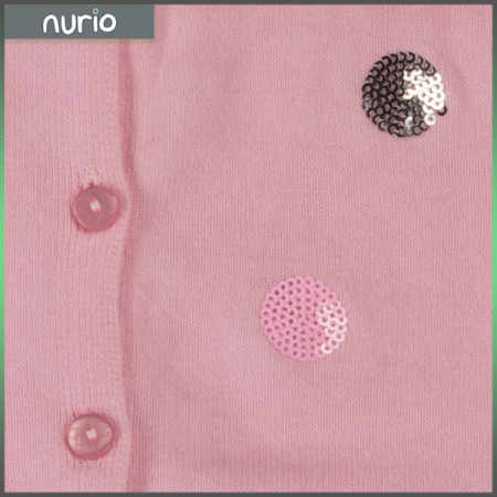 Cardigan  roz cu paiete [1]