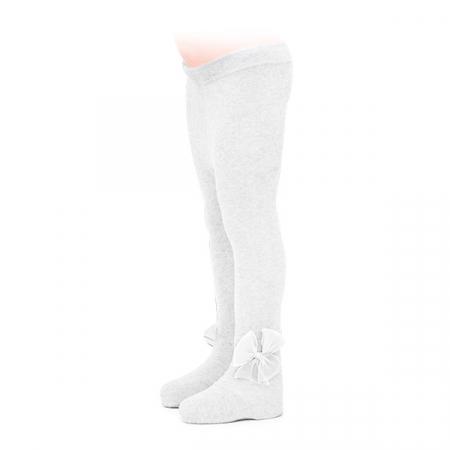 Ciorapi albi cu fundita din tulle0