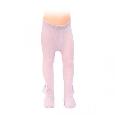 Ciorapi roz cu fundita din tulle5