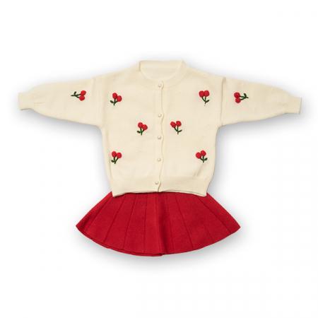 Compleu din tricot - pulover si fusta plisata0