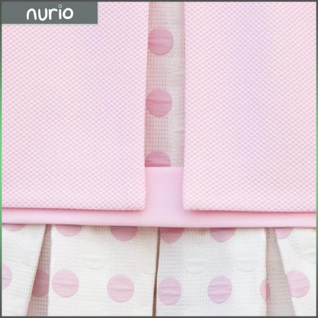 Compleu Elegant Rochie şi Sacou Din Brocart Culoare Roz şi Alb [4]