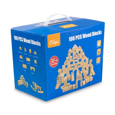 Cuburi construcție din lemn - 100 piese [1]