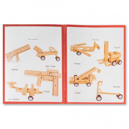 Blocuri construcție din lemn - 80 piese [2]