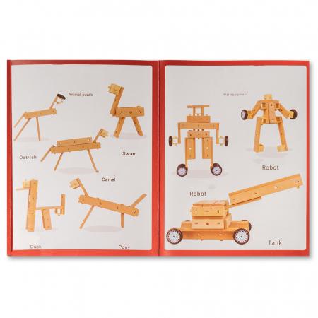 Blocuri construcție din lemn - 80 piese [3]