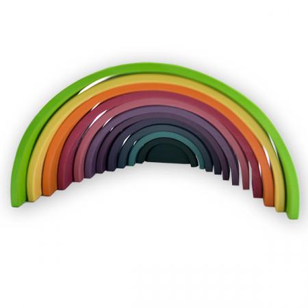 Curcubeu din lemn pastel-12 piese5