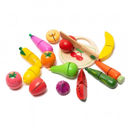 Galeata cu fructe si legume din lemn2