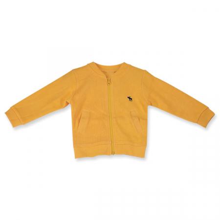Cardigan galben cu fermoar [0]