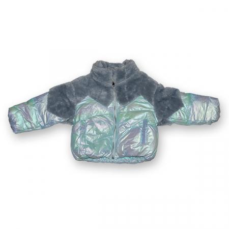 Jachetă Lucioasă cu Puf1