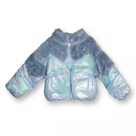 Jachetă Lucioasă cu Puf0