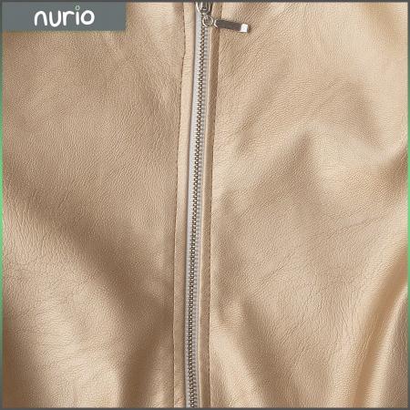 Jachetă Scurtă Cu Efect De Piele Culoare Auriu2
