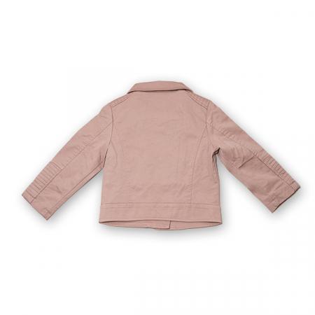 Jachetă Scurtă Cu Efect De Piele Culoare Roz Pudră6
