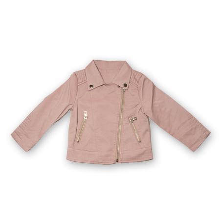 Jachetă Scurtă Cu Efect De Piele Culoare Roz Pudră5