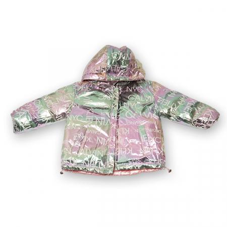 Jachetă Cu Puf  Reversibilă Cu Glugă2
