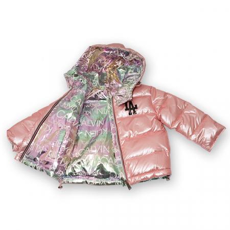Jachetă Cu Puf  Reversibilă Cu Glugă1