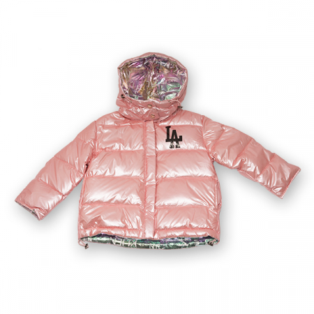 Jachetă Cu Puf  Reversibilă Cu Glugă0
