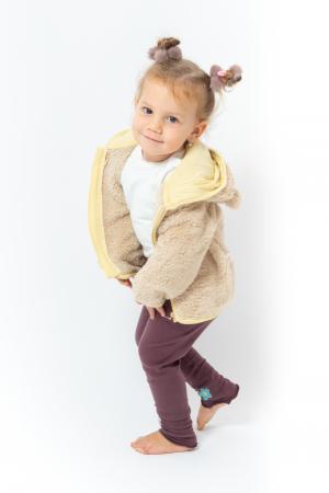 Jachetă fleece cu gluga0