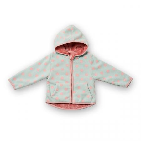 Jachetă groasa fleece cu gluga0