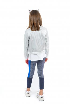 Jachetă Scurtă Cu Efect De Piele Culoare Argintiu [2]