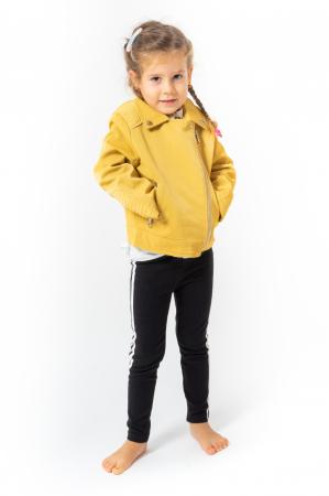 Jachetă Scurtă Cu Efect De Piele Culoare Galben0