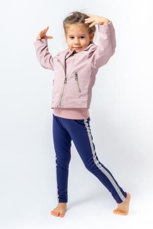 Jachetă Scurtă Cu Efect De Piele Culoare Roz Pudră1