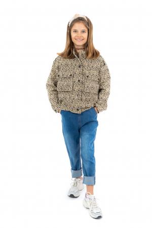 Jachetă Scurtă Cu Imprimeu Animal Print [0]