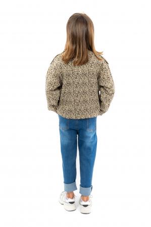 Jachetă Scurtă Cu Imprimeu Animal Print [3]
