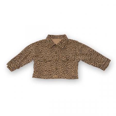 Jachetă Scurtă Cu Imprimeu Animal Print0