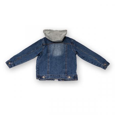 Jachetă Scurtă Din Denim Cu Glugă2