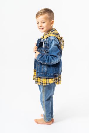 Jachetă Scurtă Din Denim Tip Cămașă1