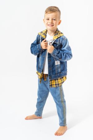 Jachetă Scurtă Din Denim Tip Cămașă0