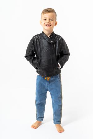 Jachetă tip biker cu efect de piele1