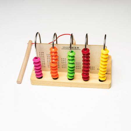 Joc din lemn 2 in 1 -  abac si pescuit magnetic2