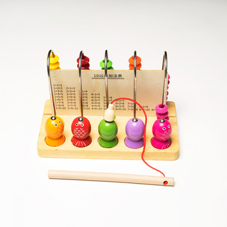 Joc din lemn 2 in 1 -  abac si pescuit magnetic3
