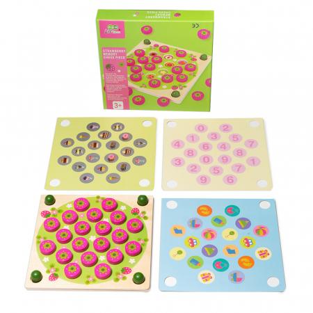 Joc din lemn  de memorie - Strawberry Memory Chess0