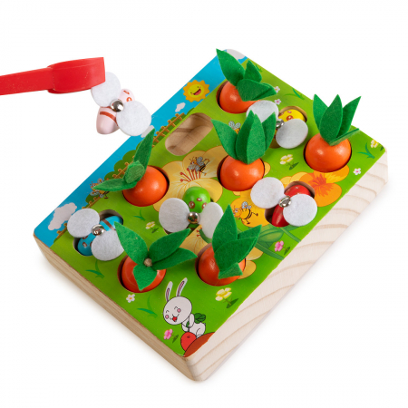 Joc din lemn cu ridichi si albinute0