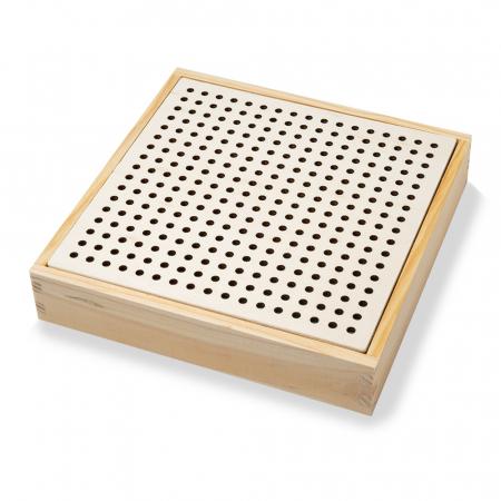 Joc din lemn de indemanare si memorie cu bile tip ciupercute3