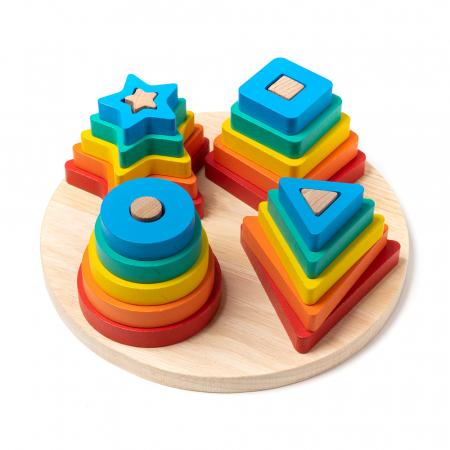 Jucarie din lemn - potrivire 4 forme geometrice1