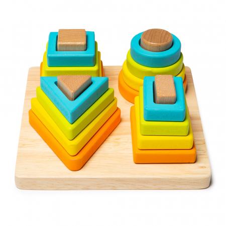 Jucarie din lemn - potrivire 4 forme geometrice0