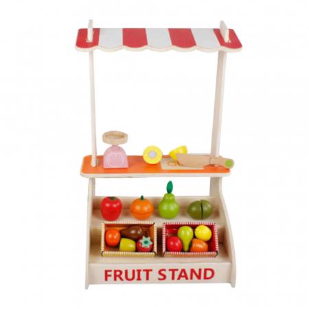 Magazin - stand pentru fructe si legume din lemn colorat cu accesorii0