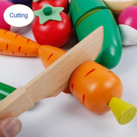 Magazin - stand pentru legume din lemn colorat cu accesorii [3]