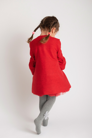 Palton Elegant Rosu cu Nasturi7